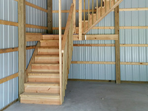 stairs in barn
